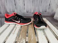 Nike Air Womens Big Girls Black And Pink Casual Athletic Shoe Athletic Size 9