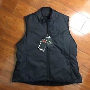 NIKE Synthetic Fill Faux Fur Golf Vest CK5866-010 SIZE XL Lined Thermore Black