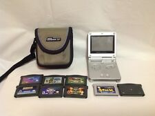 Silver Nintendo Gameboy Advance GBA SP AGS-001 Bundle - Games, Accessories - 1R