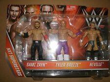 WWE SAMI ZAYN TYLER BREEZE NEVILLE NXT SUPERSTARS K-MART 3 PACK WRESTLING FIGURE