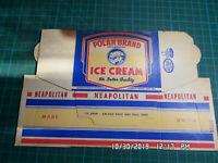 Vintage Polar Brand Holbrook Neopolitan Ice Cream One Pint Flat Carton Unused