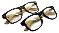 Wholesale 2 Packs Wiseman Real Bamboo Smart Glasses With Clear Lens High Quality