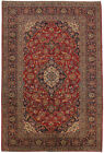 Vintage Floral Signed 7X10 Red Traditional Hand Knotted Area Rug Oriental Carpet