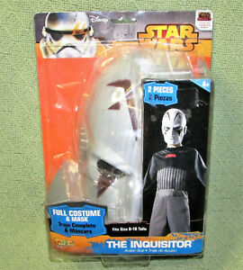 Disney STAR WARS Childrens Costume THE INQUISITOR 2 Piece Full Suit/Mask Sz 8-10
