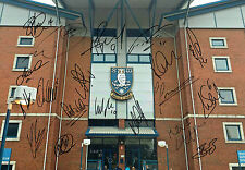 Sheffield WEDNESDAY Squad SIGNED Photo AFTAL Autograph COA FORESTIERI RHODES etc