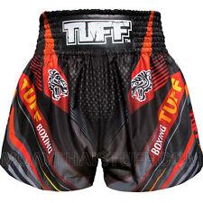 Tuff Muay Thai Boxing Shorts Black Blue Red Tiger Mma Training Gym Fitness 6A