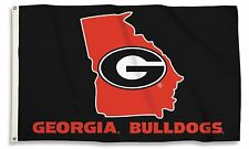 Georgia Bulldogs 35407 STATE OUTLINE 3x5 Flag w/grommets Banner University of