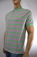 Ralph Lauren Classic Fit Green,Pink & White Stripe Mesh Polo Shirt/ Pony -NWT
