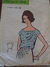 """ANCIEN PATRON  MARIE CLAIRE   """"CORSAGE DRAPE """" ANNEE  1960"""