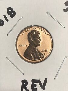 2018 S LINCOLN SHIELD *REVERSE PROOF* CENT / PENNY  BEAUTIFUL COIN #131