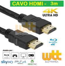 CAVO HDMI 3 metri 4K 1080p SPINA-SPINA 19 POLI 1.4 HIGH SPEED WITH ETHERNET