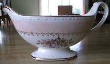 *HOMER LAUGHLIN* Eggshell Georgian Gravy Boat Pink Band L 51 - N 5