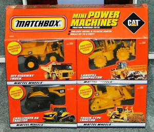 1998 SEALED NEW MATCHBOX MINI POWER MACHINES CATERPILLAR TOYS