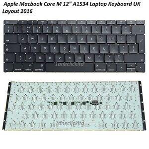 "Genuine Apple MacBook 12"" Keyboard Year 2015/ 2016 A1534 US Layout/ UK Layout"