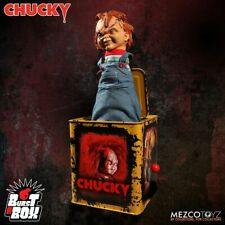 Chucky und seine Braut Burst-A-Box Springteufel Spieluhr Scarred Chucky 36 cm