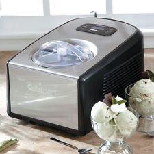 New Sealed Cuisinart ICE-100 Frozen Dessert Maker Stainless Steel Ice Cream 1.5Q
