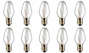 10-Pack Light Bulbs 15W for Scentsy Plug-In Warmer wax diffuser 15 Watt 120 Volt