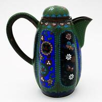 JAPANESE MEIJI PERIOD CLOISONNE EWER / TEAPOT Early 20th Century Missing Finial