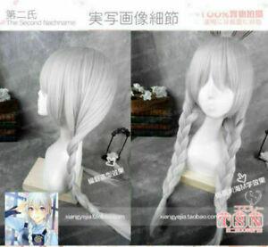 2021 Zootopia Judy Hopps Long Silver White Braids Cosplay Wig Hair