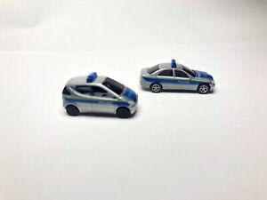 Polizei Silber blau Spur N Auto Blaulicht Einsatzfahrzeug RARITÄT NEU OVP