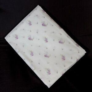 Rachel Ashwell Lilac Floral Shabby Chic Twin Flat Sheet NWOT