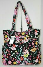 Vera Bradley Large Glenna Tote Travel Shoulder Bag Purse in Tangerine Twist