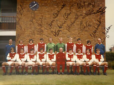 More details for arsenal 1971 team group 12x16 photograph signed by 12 players