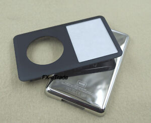 Black Faceplate Cover Lens Metal Back Case Housing for iPod 6th Classic 80GB