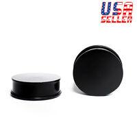 "Black Acrylic Single Flare Ear Plugs Gauges 1-1/4"" Inch 32mm 1 Pair"