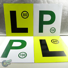 4x Magnetic Yellow L Learner Green P P2 Plate Provisional Magnet Driver License