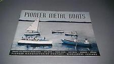 1940 Pioneer Metal Boat Catalog 24 Pages Very Good Condition