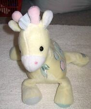 """Eden Yellow Giraffe Musical Plush Colored Spots Animal Baby Play Toy 10"""""""