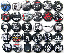 DISCHARGE Button Badges Pins Hear Nothing See Nothing Say Nothing Punk Hardcore