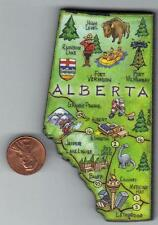 PROVINCE OF ALBERTA  CANADA ARTWOOD  MAP MAGNET   EDMONTON BANFF CALGARY  JASPER