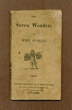 """""""Seven Wonders of The World"""", S. Wood & Sons, New York, 1816"""
