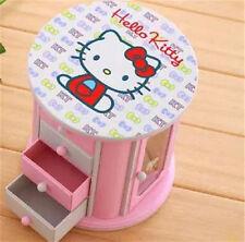 SANRIO Hello Kitty Rotary Music Box Storage Jewelry Box Pink Girl Toy-Big Size