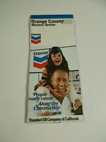 Vintage Chevron 1973 Orange County Western Section Oil Gas Travel Map~Box C7