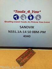 10x Nuevo Sandvik n331.1a-14 50 08m-pm 4040 Insertos De Carburo Para Fresado ci48