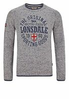 Lonsdale Herren Men Sweater Borden Pullover Rundhals Pulli Boxing S bis 3XL NEU