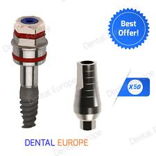 Lot of 50 Spiral Dental Implant + 50 Standard Abutment with Original FDA / CE