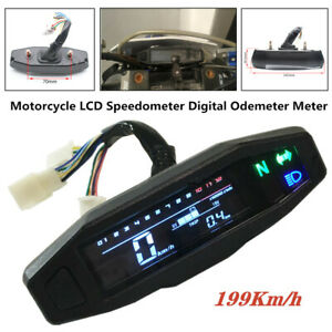 1X Motorcycle Universal Speedometer Odemeter Electric Injection Carburetor Meter