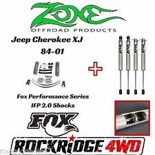 "Zone 4.5"" Jeep Cherokee XJ 84-01 Suspension Lift Kit Dana 35 W Fox Performance"