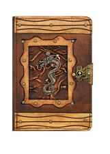 Handmade Genuine Leather Apple iPad Mini 1 2 3 4 Case Cover Brown Chinese Dragon