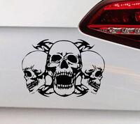 Totenkopf Auto Aufkleber Totenkopf Sticker Skull Horror Motorrad Harley Chopper
