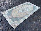 Turkish rug, Vintage rug, Handmade rug, Area rug, Wool rug,Carpet | 3,7 x 7,4 ft