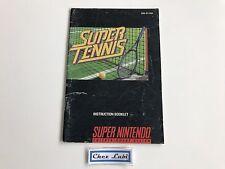 Notice - Super Tennis - Super Nintendo SNES - NTSC USA