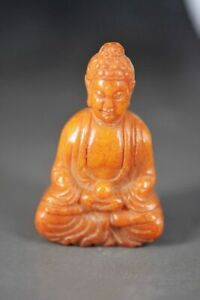 Exquisite Chinese Old Jade Hand Carved *Buddha* Pendant/Statue H21