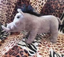 """Wild Republic Cuddlekins 12"""" Grey Warthog Pig plush stuffed"""