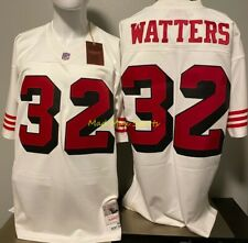 RICKY WATTERS San Francisco 49ERS White MITCHELL & NESS Throwback LEGACY Jersey