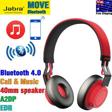 Jabra MOVE Wireless Bluetooth A2DP Stereo Headphones Headset EDR Red